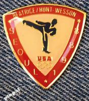 Taekwondo Olympic Pin~Sponsor~Beatrice~Hunt~Wesson~1988 Seoul, Korea
