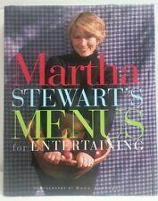 Martha Stewart's Menus for Entertaining 1st Edition 1st Printing 1994 Hardcover