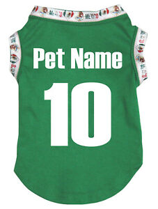 Customized World Cup NO 10 Soccer Football Puppy Dog Clothes Pet Tee T-Shirt