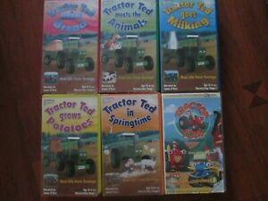 Tractor Ted / Tom Bundle Of 6 VHS Video Tapes BBC VGC UK PAL