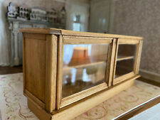 Vintage Miniature Dollhouse Artisan J. Jans Wood Glass Store Display Counter