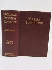 Lionel S. Marks MECHANICAL ENGINEERS' HANDBOOK 1941 McGraw-Hill, NY 4th Edition