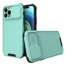 For iPhone 12 11 Pro Max XR XS 7 8 SE 2 Slide Camera Protection Soft Case Cover