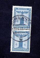 ALLEMAGNE DIENSTMARKEN 1938 4 PFG GUMBINNEN  Y&T N° 107 2 PIECES