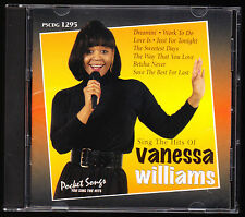 SING THE HITS OF VANESSA WILLIAMS (1998) - 16 TRACKS - UNPLAYED CD ALBUM