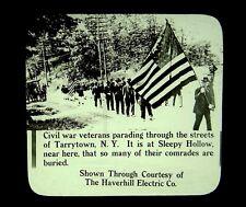 Patriotic Magic Lantern Slide Civil War Veterans Parade Tarrytown NY GAR 1915