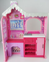 Barbie Sisters Cozy Ski/Snow Cabin/Lodge Playhouse/Dollhouse ~ Pink/White Mattel