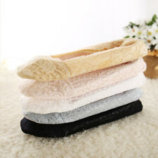 Summer Women Lace Soft Shoe Liners Invisible Trainer Mini Socks Black White Gray