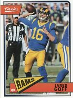 2018 Classics Red Back #89 Los Angeles Rams QB Jared Goff Serial # 257/299