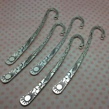5 x Bookmark Findings Tibetan Style Antique Silver Sun Moon Stars Design 12cm