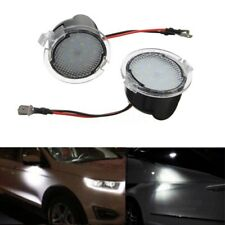 2x White LED Side Mirror Puddle Lights For Ford Edge Mondeo Explorer Taubus