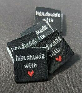 *DIY Nähen * Stoff Label Handmade * Tag Etiketten Einnäher Kleidung Taschen *#9S
