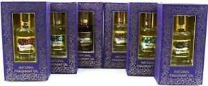 6X10 ml Bottles Song of India Natural Perfume/Burner Oil-Variety Pick 28 Choices