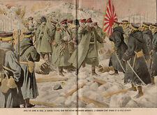LUSHUNKOU PORT ARTHUR GENERAL STOESSEL TROUPE JAPONAISE CHINE IMAGE 1905 PRINT