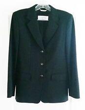 Max Mara Blazer Jacket Black Virgin Wool Size 6 Made in Italy