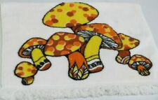 New listing Vintage Kitchen Hand Towel Mushroom Design 1970's-1980's Kitchen Decor Set Prop