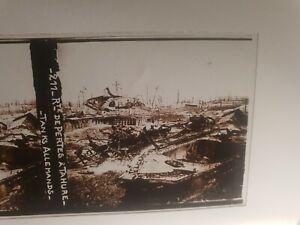 plaque photo verre positif militaria tanks Allemands Tahure ww1 14/18 **