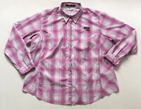 "Columbia PFG Women's ""Super Tamiami"" Omni-Shade Shirt Plaid Pink Size 2XL XXL"