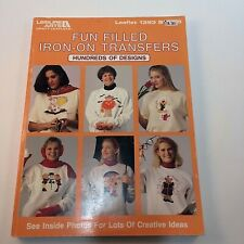 Fun filled Iron-ON Transfers Leisure Arts 1992 Transfers For Fabric Painting VTG