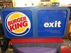 Vintage BURGER KING Exterior Lighted Exit Sign ~ Believe To Be 1980's Or Older!!