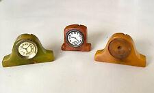 Vintage 1930s Bakelite 3 Clocks Pencil Sharpener Lot