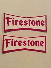 Vintage 2 (two) Decals Stickers Firestone Tires Race Indy Muscle Car Hot Rat Rod