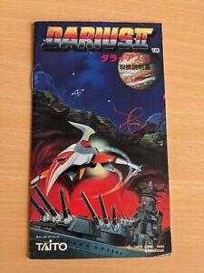 Darius 2 Sega Mega Drive Japanese MANUAL ONLY
