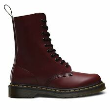 Dr Martens Unisex 1490 Classic Cherry Red Leather Lace up Boot (11857600) UK 10