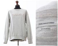 Women's ISABEL MARANT Sweatshirt Crew Neck Grey Size FR 42 US 10