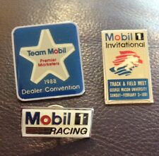 Lot Of 3 Mobil Racing Lapel Pins Automobile Pins