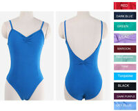 Quality Adult Women's Mulitiple Colors Black Blue Ballet Dance Leotard Camisole
