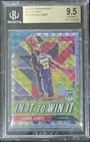 2019-20 Panini Mosaic Lebron James In It To Win It Prizm BGS 9.5 Gem Mint