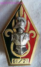 IN7297 - INSIGNE 61 -21 Cie de Génie Légion, chiffres dans cartouche, vert foncé