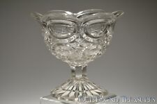 c. 2H 1800s  by Unknown FLINT CLEAR English Footed Open Sugar Basin