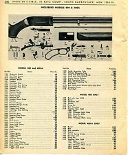 1965 Print Ad of Mossberg Model 400 & 400A Rifle parts list
