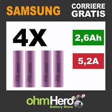 4X Cella 18650 Originale Samsung SDI ICR18650 26H M 2600mAh - Batteria sigaretta