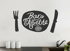 Bon Appetite Kitchen Wall Sticker Vinyl Decal Art Restaurant Pub Decor Love