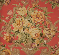 P Kaufmann ASHMONT CLARET Floral Home Decor Drapery Upholstery Sewing Fabric