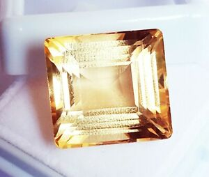 Loose Gemstone 100 % Natural Citrine 18.30 Ct Certified With Free Shipping