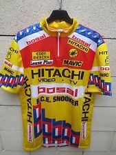 VINTAGE Maillot HITACHI BOSAL B.C.E  SNOOKER Tour de France 1988 jersey trikot 6