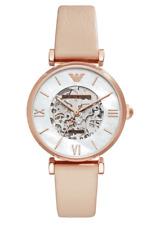 NWT Emporio Armani AR60001 Women's Automatic Leather Strap Watch