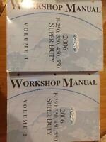 2006 Ford F 250 350 450 550 Super Duty Workshop Service Manuals