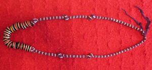 Vintage Hand Made Cloth & Bead Necklace-Estate Sale