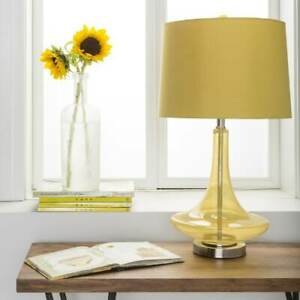 Carson Carrington Paimio Solid Yellow Bray Table Lamp