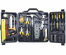 Cartman 69 Piece Tool Set - General Household Hand Tool Kit with Plastic Toolbox