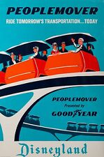 Disneyland PEOPLE MOVER POSTER 24 X 36 Inches Looks beautiful Nostalgia