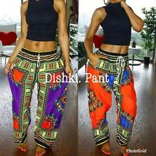 Womens African Dashiki Print Pants. One Size