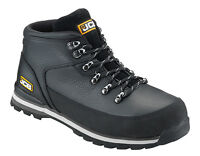 JCB 3CX MENS S3 LEATHER SAFETY WATERPROOF WORK BOOTS STEEL TOE CAP WIDE FIT SIZE