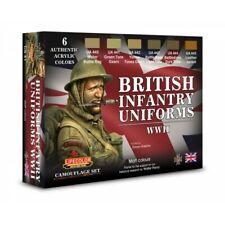 LIFECOLOR LFCS41 BRITISH INFANTRY UNIFORMS WWII - COLOUR SET