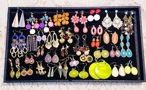 34 Piece Colorful Mixed Style Dangle Pierced Earring Lot